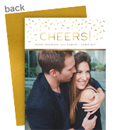 Foil Confetti Holiday Photo Card 5x7 Flat Card