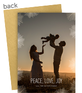 Starburst Overlay Holiday Photo Card 5x7 Flat Card