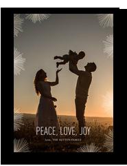 Starburst Overlay Holiday Photo Card 5x7 Flat Card