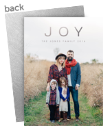 Joy Overlay Holiday Photo Card 5x7 Flat Card