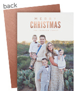 Foil Overlay Christmas Photo Card 5x7 Flat Card