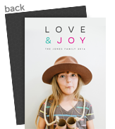Love & Joy Holiday Photo Card 5x7 Flat Card