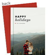Red Heart Holiday Photo Card 5x7 Flat Card
