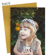 Magical Overlay Holiday Photo Card 5x7 Flat Card