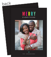 Colorful Merry Holiday Photo Card 5x7 Flat Card