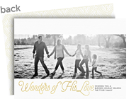 Wonders of His Love Christmas Photo Card 7x5 Flat Card