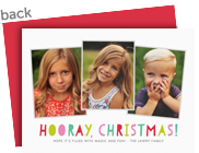 Hooray, Christmas Photo Card 7x5 Flat Card