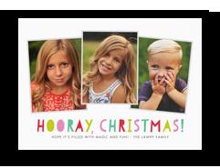 Hooray, Christmas Photo Card 7x5 Flat Card