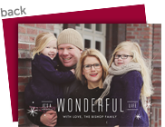 Wonderful Life Holiday Photo Card 7x5 Flat Card