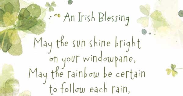 u0026quot st  patrick u0026 39 s day poem an irish blessing u0026quot
