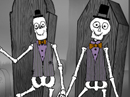 Barbershop Skeletons Interactive Halloween eCards