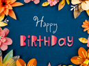 Paper Flowers Choose-Your-Wish Ecard (Personalize) Birthday eCards
