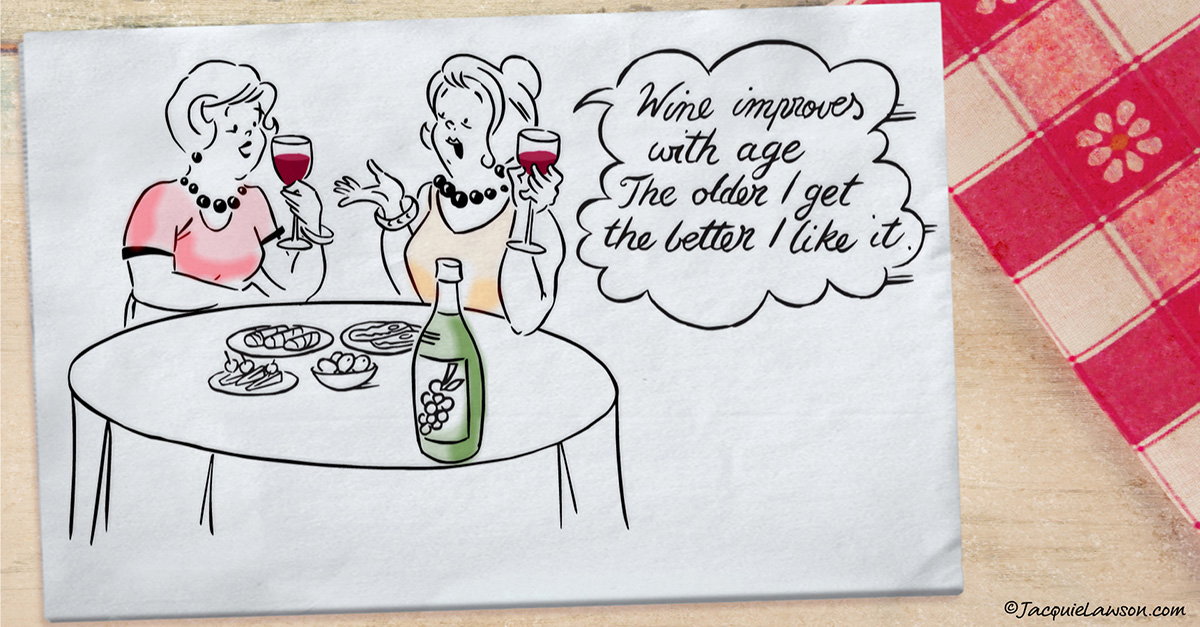 Happy Birthday Wine Witticism E Card By Jacquie Lawson