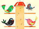 Four Birds Birthday Song (Personalize) Birthday eCards