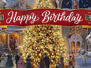 """White Christmas"" Birthday (Personalize) Christmas eCards"