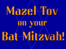 Star of David-Bat Mitzvah Anytime eCards
