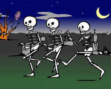 Esqueletos en el Cementerio
