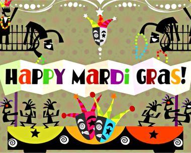 Mardi Gras Wishes Ecard