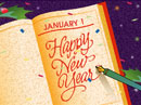 Wishing You Happy Days (Personalized) New Year's Day eCards
