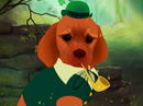 Cute Irish Pup (Interactive Click-Thru) St. Patrick's Day eCards