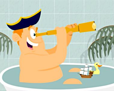 Columbus Day Bath Explorer Ecard