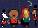 Canine Carolers (Fun Song) Christmas eCards