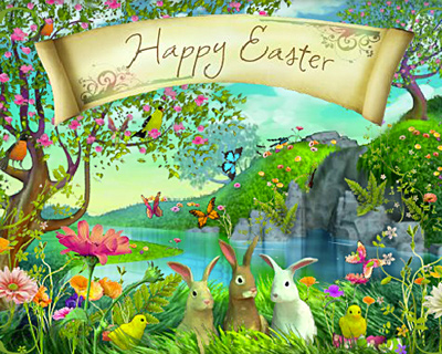 """Happy Easter! Happy Spring!"""" 
