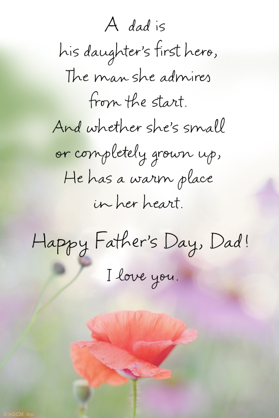 """A Father's Day Poem from Daughter"" 