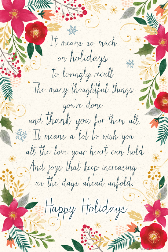 holiday thank you poem thank you ecard blue mountain ecards