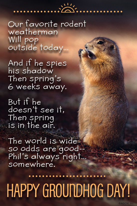 Groundhog day 2218 groundhog day ecard blue mountain ecards ecard verse m4hsunfo Choice Image