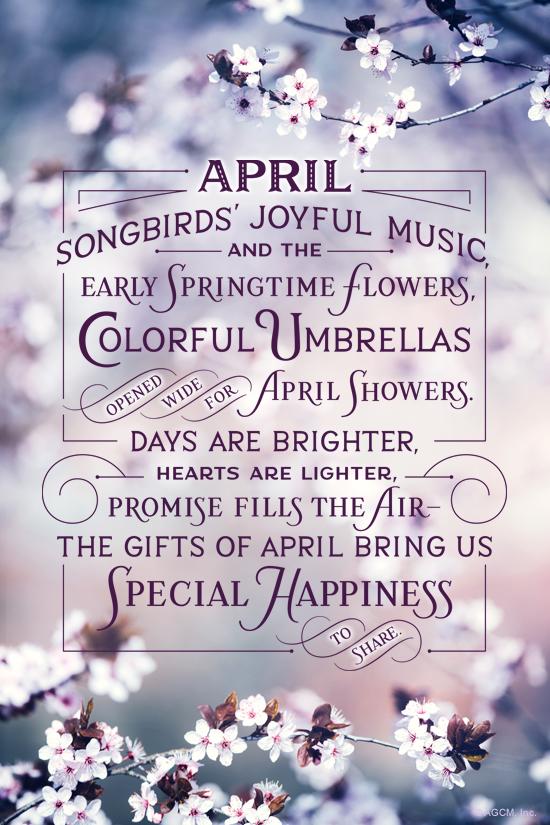 """April Poem"" | April eCard | Blue Mountain eCards"