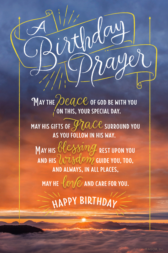 Birthday Prayer Poem