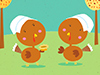 Turkey Pilgrimettes  -- Free Thanksgiving, Holiday Desktop Wallpapers from American Greetings