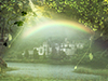 Rainbow Castle  -- Free St. Patricks Day, Holiday Desktop Wallpapers from American Greetings