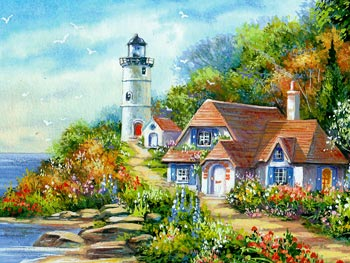 Lighthouse Cottage Wallpapers