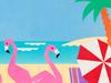 Flamingo Beach  -- Free Beach, Nature Desktop Wallpapers from American Greetings