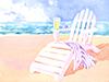 Beach Chair  -- Free Beach, Nature Desktop Wallpapers from American Greetings
