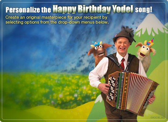 Birthday Yodel Video Ecard Personalized Lyrics Milestone – Cheryl Cole Birthday Card