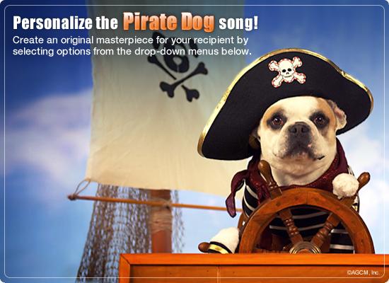 Pirate Dog Video Ecard Personalized Lyrics Happy Birthday – Happy Birthday Dog Card