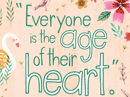 Age of Heart Quote Birthday eCards