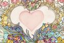 Heart Nouveau ecard
