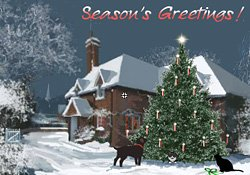 Seasons greetings christmas cottage e card by jacquie lawson christmas cottage m4hsunfo Images