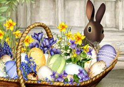 Happy easter easter basket e card by jacquie lawson easter basket m4hsunfo Images