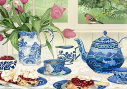happy birthday cream tea ecard by jacquie lawson, Birthday card