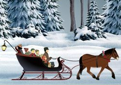 Merry Christmas! Sleigh Ride e-card by Jacquie Lawson
