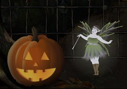 Happy Halloween! Halloween Scene e-card by Jacquie Lawson
