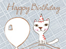 Singing Birthday Kitty Birthday eCards