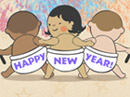 Dancing New Year Babies New Year's Day eCards