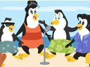 Bee-Bop Penguins Surf's Up Song Have a Nice Day eCards