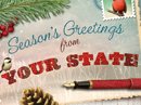 Holiday Greetings Postcard Personalized Season's Greetings eCards
